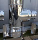 Kit cos fum din inox Ø 250mm, H= 10m, izolat