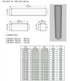 Burlan, tub inox DP(izolat) 1000mm. Alege diametru Ø mm!