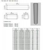 Burlan, tub inox DP(izolat) 500mm. Alege diametru Ø mm!