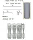 Tub inox SP(neizolat) L= 50 cm. ALEGE DIAMETRU Ø mm!