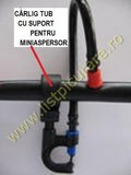 Carlig sustinere tub  fi 20 cu suport pentru miniaspersor sau sprayer