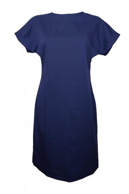 Rochie bleumarine din tercot