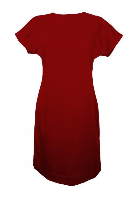 Rochie rosie din tercot