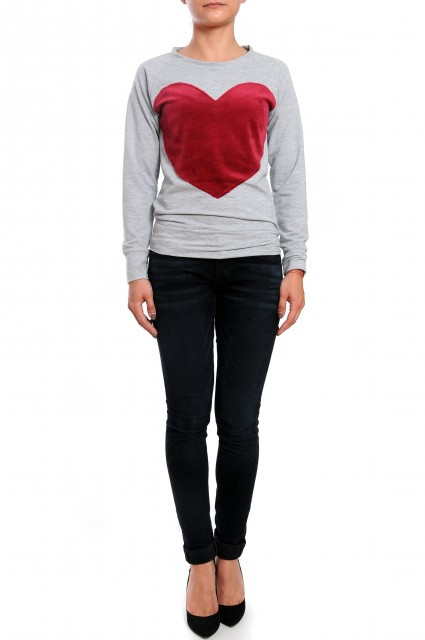 Bluza Heart - Grey