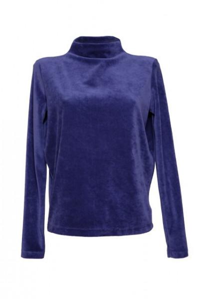Poze Bluza din catifea indigo