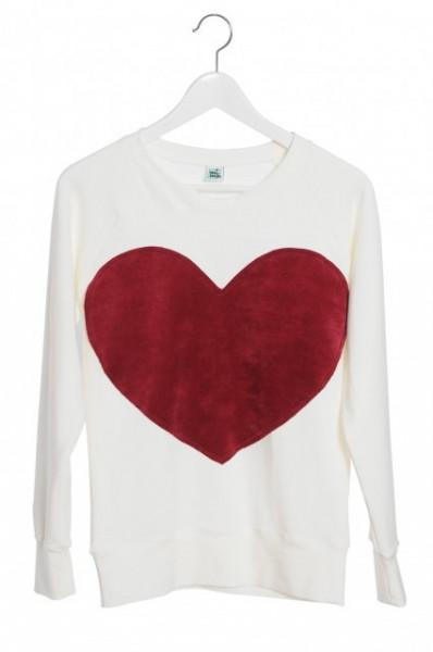 Bluza Heart - Ivory