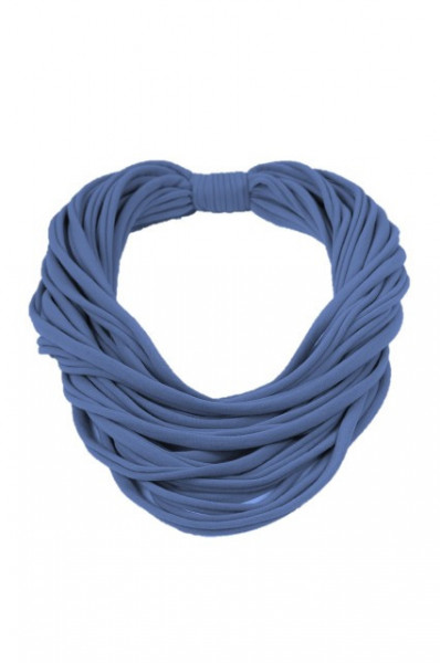 Colier textil albastru denim