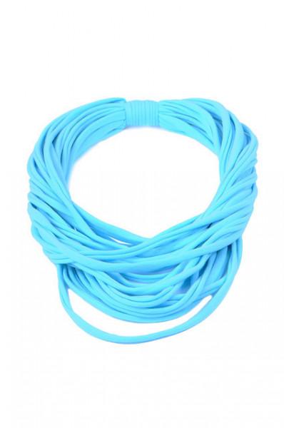 Colier esarfa aqua blue