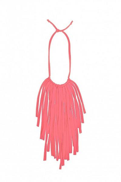 Poze Colier textil Fringes roz