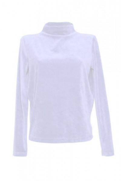 Bluza din catifea alba