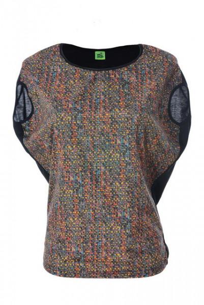 Poze Bluza colorata cu maneca scurta
