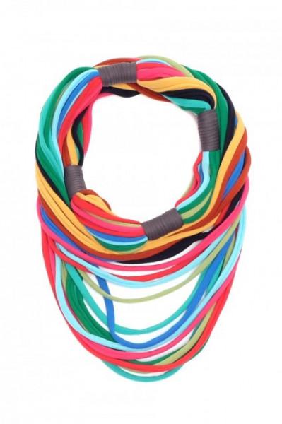 Poze Colier textil Long Rainbow