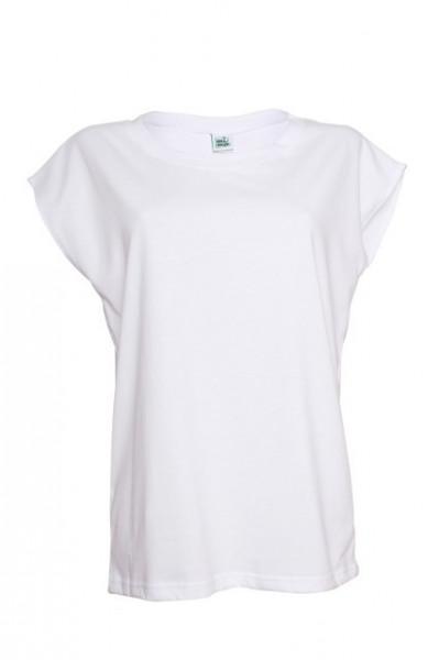 Poze Tricou alb fara maneci