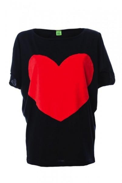 Poze Tricou Heart - Black