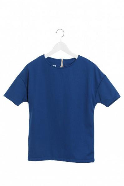 Bluza albastra cu fermoar