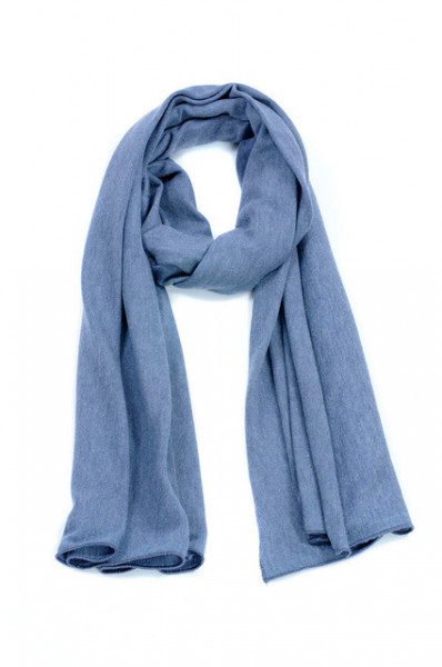 Esarfa tricotata bleu melange
