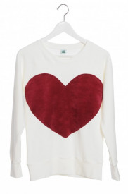 Bluza Heart - Ivory sau Grey