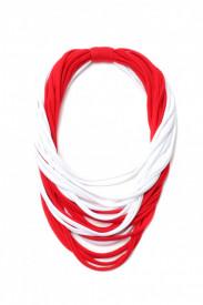 Colier textil bicolor