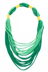 Colier textil lung verde