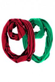 Set esarfe rosie si verde