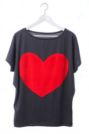 Tricou Heart - Grey