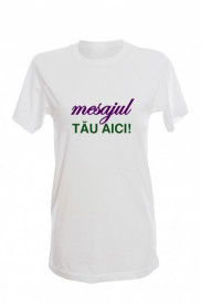 Tricou pictat cu mesaj - model masculin
