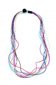 Colier lung din cauciuc colorat