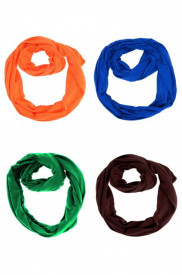 Set 4 esarfe colorate