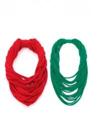 Set colier rosu si verde