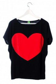 Tricou Heart - Grey sau Black