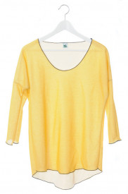 Bluza galbena cu maneci trei sferturi