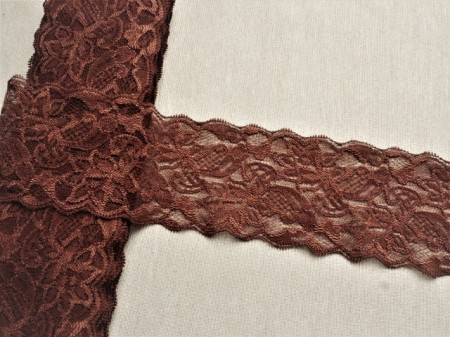 Dantela elastica maro 8cm, cod300