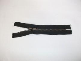 Fermoare fixe #5 metal 14 cm negre cu dinti negrii