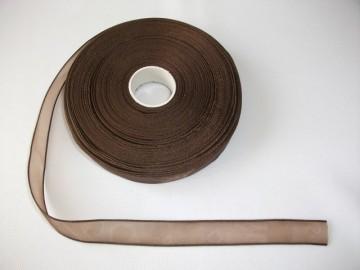 Panglica organza 10 mm - maro inchis