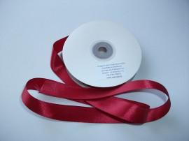 Panglica satinata ambele fete 20 mm bordo