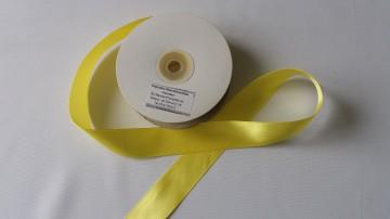 Panglica satinata ambele fete 25 mm galbena