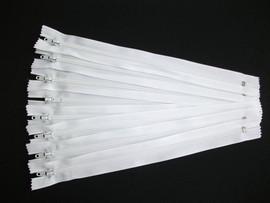 Fermoare fusta #3 - 20 cm alb