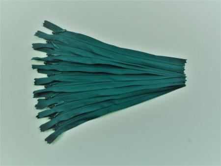Fermoare invizibile 20 cm verde turcoaz inchis
