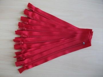 Fermoare pantaloni #5 - 20 cm rosu