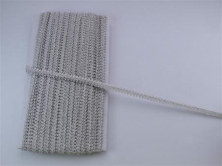 *Galon Poliester 11mm, cod739 - cu fir argintiu