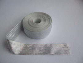 Panglica argintie 40 mm