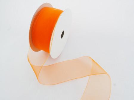 Panglica organza 25 mm portocaliu