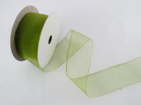 Panglica organza 41 mm verde praz