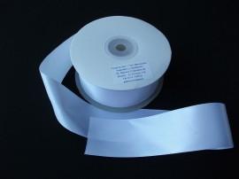 Panglica satinata ambele fete 38 mm alba