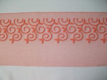 Dantela neelastica portocalie 19 cm, cod90