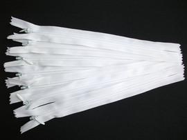 Fermoare invizibile 20 cm alb