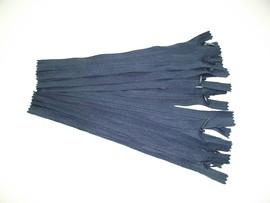 Fermoare invizibile 20 cm bleumarin