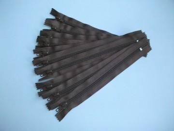 Fermoare pantaloni #5 - 20 cm maro inchis