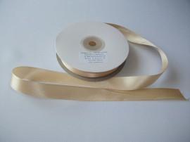 Panglica satinata ambele fete 15 mm bej