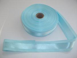 Panglica satinata pe mijloc 40 mm bleu